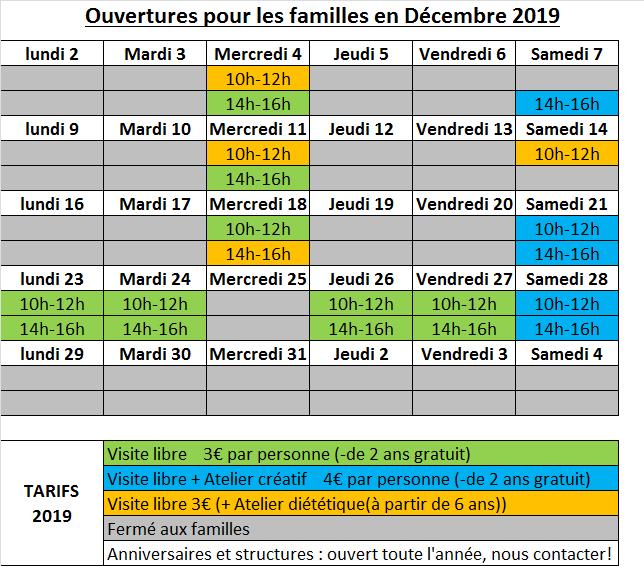 Planning decembre 20