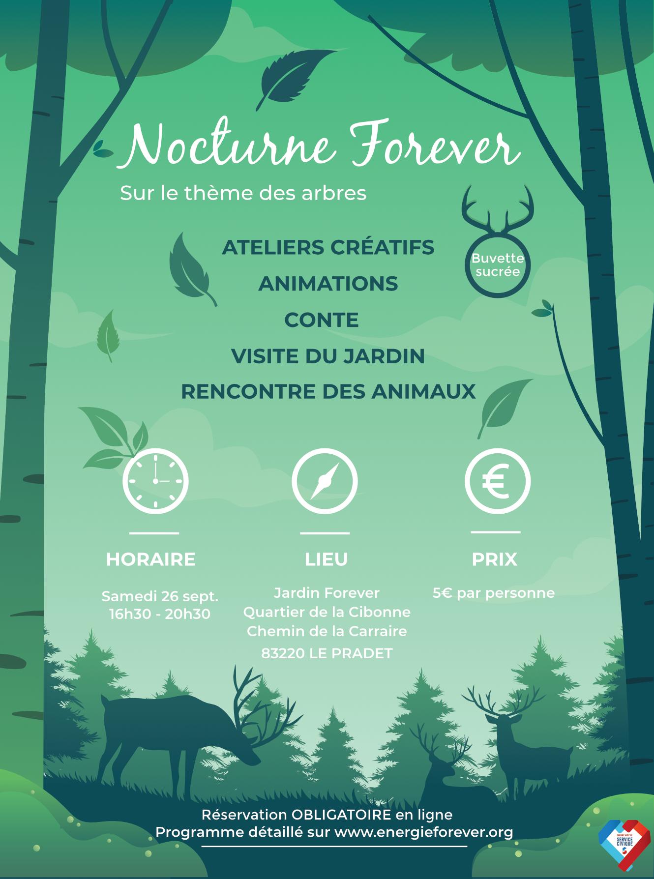 Affiche Nocturne Forever Les arbres